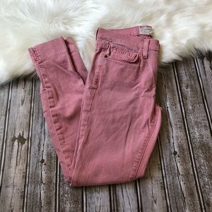 Current/Elliott faded red stiletto jeans